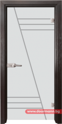 Стъклена врата модел Gravur 13-4 - Венге