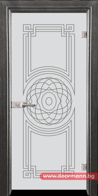 Стъклена врата модел Sand 14-8 - Сив кестен
